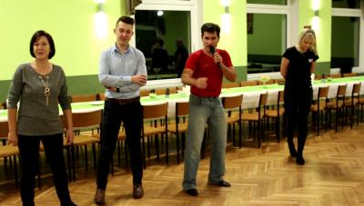 Uczestnicy projektu na zajęciach tanecznych