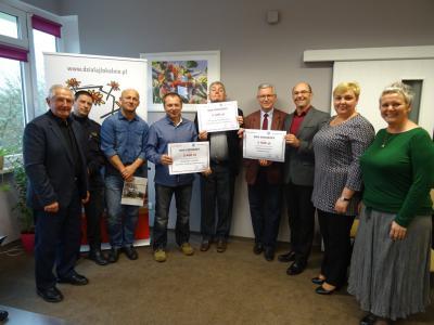 Giving circle - Krąg Darczyńców 2016 - autorzy projektów wraz z Członkami Zarządu Stowarzyszenia Kraina św. Anny