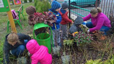 Uczestnicy warsztatów ogrodniczych