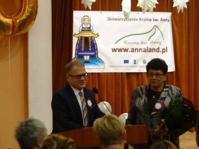Reprezentanci Gminy Strzelce Opolskie Burmistrz Tadeusz Goc i Przewodnicząca Rady Miejskiej Gabriela Puzik