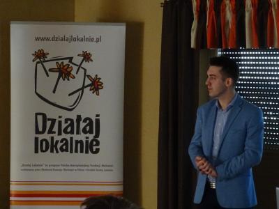 Pan Patryk Blania opowiada o zrealizowanym swoim projekcie grantowym