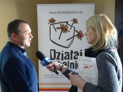 Nasz grantobiorca Janusz Bajorek udziela wywiadu dla TVP Opole