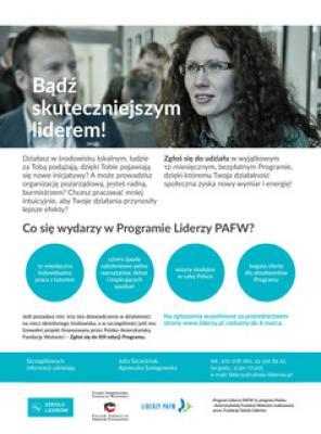 Zaproszenie do XIII edycji Programu Liderzy PAFW.jpeg