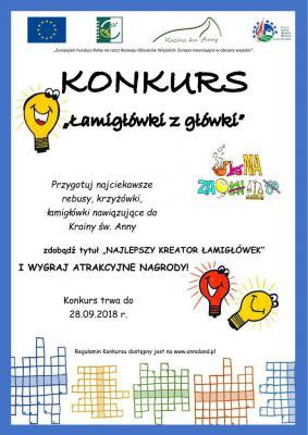 """Plakat konkursu """"Łamigłówki z główki"""".jpeg"""