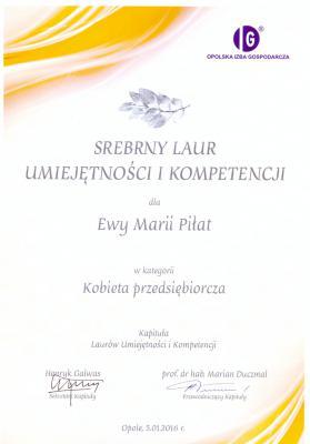 Galeria Dyplomy, gratulacje, podziękowania