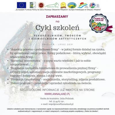 Zaproszenie na cykl szkoleń w ramach projektu współpracy Dobre bo lokalne.jpeg