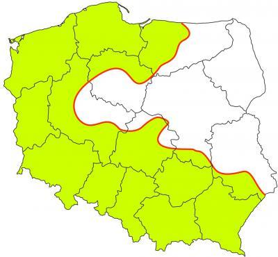 zasięg naturalnego występowania buka pospolitego w Polsce.jpeg
