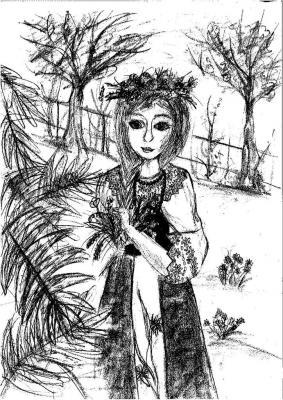 Iga Ciesiołkiewicz - Dziewczyna w stroju ludowym